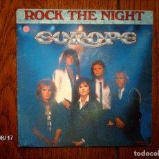 Discos de vinilo: EUROPE - ROCK THE NIGHT + SEVEN DOORS HOTEL . Lote 121588815