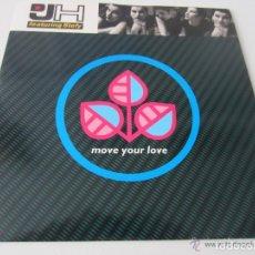 Discos de vinilo: D.J.H. (DJ H.) FEATURING STEFY - MOVE YOUR LOVE/I LIKE IT (CULTURE MIX) 1991 UK SINGLE. Lote 121590167