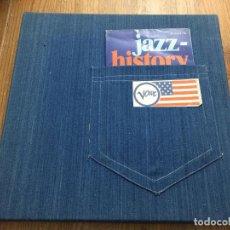Discos de vinilo: COLECCIÓN JAZZ HISTORY DE VERVE - 10 LPS - CON SU CAJA TEJANA ORIGINAL. Lote 121590655