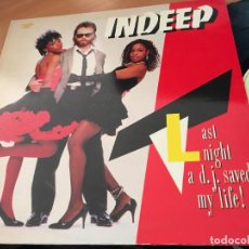 Discos de vinilo: INDEEP (LAST NIGHT A D.J. SAVED MY LIFE) LP ESPAÑA 1983 (VIN-A3). Lote 121601223