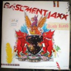 Discos de vinilo: BASEMENT JAXX – KISH KASH 2XLP CON ENCARTES UK 2003 . Lote 121622611