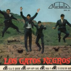 Discos de vinilo: GATOS NEGROS, EP, ELLA TE QUIERE (SHE LOVES YOU) + 3, AÑO 1964. Lote 121627139