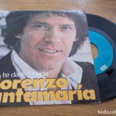 Disques de vinyle: LORENZO SANTAMARIA. TE DARÉ MI VIDA. Y TE VAS.. Lote 121627499