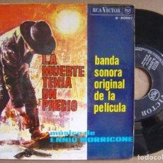Discos de vinilo: ENNIO MORRICONE - LA MUERTE TENIA UN PRECIO - EP 1966 - RCA. Lote 121630651