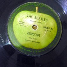 Discos de vinilo: LOS BEATLES: RETROCEDE-NO ME ABANDONES- EDICION ORIGINAL 1969-RARO!!. Lote 121630771