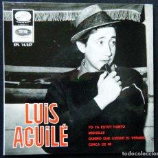 Discos de vinilo: LUIS AGULLÉ / YO YA ESTOY HARTO - MICHELLE - QUIERO QUE LLEGUE EL VERANO - CERCA DE MI.. Lote 121638135