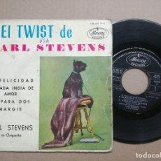 Discos de vinilo: CARL STEVENS - EL TWIST / TE PARA DOS / MI FELICIDAD. Lote 121643479