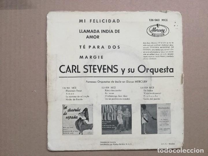 Discos de vinilo: CARL STEVENS - EL TWIST / TE PARA DOS / MI FELICIDAD - Foto 2 - 121643479