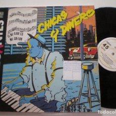 Discos de vinilo: LOS ELEGANTES - CHICAS Y DINERO - LP ZAFIRO 1984 . Lote 121644091