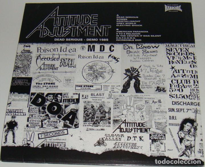 Discos de vinilo: LP - ATTITUDE ADJUSTMENT - DEAD SEIOUS DEMO 1985 - ATTITUDE ADJUSTMENT - Foto 2 - 121644751