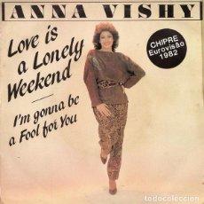 Discos de vinilo: CHIPRE 1982. ANNA VISHY - MONO I AGAPI (VERSIÓN EN INGLÉS). Lote 121644931