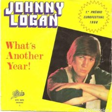 Discos de vinilo: IRLANDA 1980. WHAT'S ANOTHER YEAR - JOHNNY LOGAN. Lote 121645059