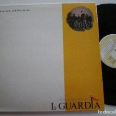 Discos de vinilo: LA GUARDIA - CUANDO BRILLE EL SOL / MIENTRAS ESCUCHO ESTA CANCIÓN- MAXI SINGLE ZAFIRO 1990 /. Lote 121647211