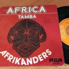 Discos de vinilo: AFRIKANDERS (AFRICA) SINGLE ESPAÑA 1975 (EPI10). Lote 121648211