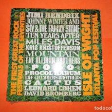 Discos de vinilo - ISLE OF WIGHT. FESTIVAL ATLANTA. 3LP 1971 CBS EDICION ESPAÑOLA HENDRIX, CACTUS, LEONARD COHEN, ETC. - 121648367