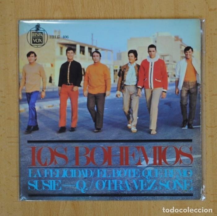 LOS BOHEMIOS - LA FELICIDAD + 3 - EP (Música - Discos - Singles Vinilo - Solistas Españoles de los 50 y 60)