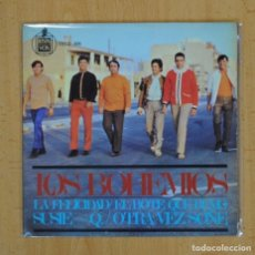 Discos de vinilo: LOS BOHEMIOS - LA FELICIDAD + 3 - EP. Lote 121649572
