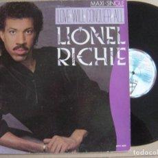 Discos de vinilo: LIONEL RICHIE - LOVE WILL CONQUER ALL - MAXI SINGLE 1986 - MOTOWN. Lote 121650391