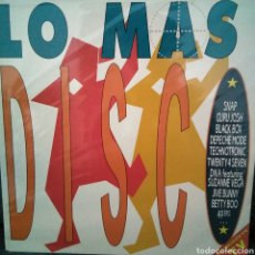 Discos de vinilo: LO MAS DISCO - LP DOBLE - GATEFOLD - (SNAP-BLACKBOX- 49 ERS- DEPECHE MODE- TWENTY 4 SEVEN....... Lote 121654007