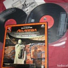 Discos de vinilo: FALLA - HALFFTER. ATLANTIDA. RAFAEL FRÜHBECK DE BURGOS. CAJA 2 LP + LIBRETO. . . Lote 121659527