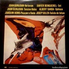 Discos de vinilo: JOAN GUINJOAN, JOAQUIM HOMS, XAVIER BENGUEREL, ALBERT SARDA, JOSEP SOLER – VARIORIUM /TENSIÓN-RELAX. Lote 121674783