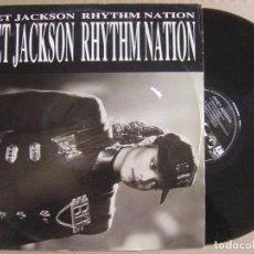 Discos de vinilo: JANET JACKSON - RHYTHM NATION - MAXI SINGLE ALEMAN 1989 - A&M. Lote 121704775