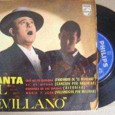 Discos de vinilo: EL SEVILLANO - CANTA EL SEVILLANO - EP 1964 - PHILIPS. Lote 121709315