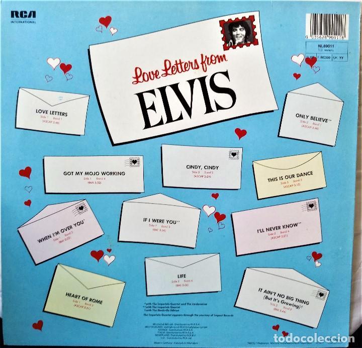 Discos de vinilo: {ELVIS PRESLEY} LOVE LETTERS FROM ELVIS ? LP ? - - GERMANY / EX/EX - Foto 2 - 121714435