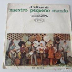 Discos de vinilo: EL FOLKLORE DE NUESTRO PEQUEÑO MUNDO - SINNER MAN + 2 CANCIONES 1968 SPAIN SINGLE. Lote 121717447