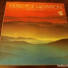 Discos de vinilo: ALBUM EN CAJA, MUSIC FOR MEDITATION, CLASSIC, SYNTHESIZER AND EFFECTS, 3 LPS VINILO. Lote 121720159