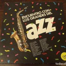 Discos de vinilo: ALBUM EN CAJA, ENCUENTRO CON LOS GRANDES DEL JAZZ, NÚM 1, 3 LPS VINILO. Lote 121720415