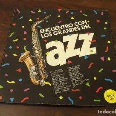 Discos de vinilo: ALBUM EN CAJA, ENCUENTRO CON LOS GRANDES DEL JAZZ, NÚM 5, 3 LPS VINILO. Lote 121720783