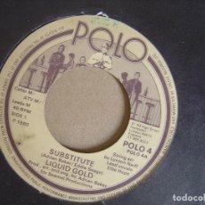 Discos de vinilo: LIQUID GOLD - SUBSTITUTE SINGLE 1980 - POLO. Lote 121721235