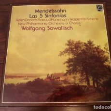 Discos de vinilo: ALBUM EN CAJA, MENDELSSOHN, LAS 5 SINFONÍAS, 5 LPS VINILO, 1979. Lote 121723387