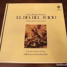 Discos de vinilo: ALBUM EN CAJA, TELEMANN, EL DÍA DEL JUICIO, 2 LPS VINILO, 1978. Lote 121726507