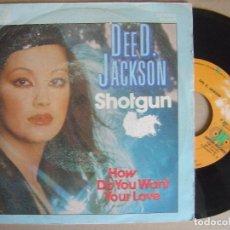 Discos de vinilo: DEE D JACKSON - SHOTGUN + HOW DO YOU WANT YOUR LOVE - SINGLE 1982 - JUPITER. Lote 121739811