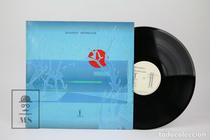 DISCO LP DE VINILO - ZENAMON / PROMENADE - THETA , AÑO 1988 - MADE IN UK (Música - Discos - LP Vinilo - Electrónica, Avantgarde y Experimental)