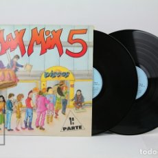 Discos de vinilo: DOBLE DISCO LP DE VINILO - MAX MIX 5 / 1ª PARTE - MAX MUSIC , AÑO 1987. Lote 121743632