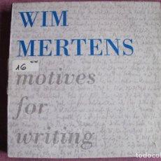 Discos de vinilo: LP - WIN MERTENS - MOTIVES FOR WRITING (SPAIN, GASA 1989). Lote 121744707