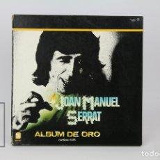 Discos de vinilo: CAJA 4 LP DE VINILO - JOAN MANUEL SERRAT / ALBUM DE ORO - ZAFIRO, AÑO 1981. Lote 121744716