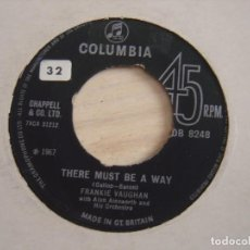 Discos de vinilo: FRANKIE VAUGHAN - THERE MUST BE A WAY + YOU´RE NOBODY TIL SOMEBODY..-SINGLE UK 1967 - COLUMBIA. Lote 121744851
