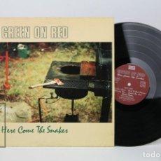 Discos de vinilo: DISCO LP DE VINILO - GREEN ON RED / HERE COME THE SNAKES - ROUGH TRADE, AÑO 1988. Lote 121745771