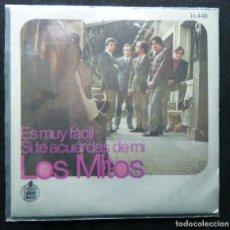 Discos de vinilo: LOS MITOS / ES MUY FACIL. - SI TE ACUERDAS DE MI.. Lote 121752415