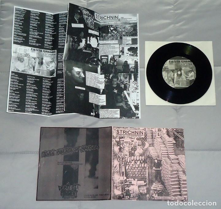 STRICHNIN / SEVEN MINUTES OF NAUSEA - SPLIT - 7'' [ZYKLONEN TAPES, 2001] NOISECORE (Música - Discos de Vinilo - EPs - Punk - Hard Core)