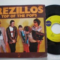 Discos de vinilo: REZILLOS - TOP OF THE POPS +1 - SINGLE HISPAVOX 1978 // MUY RARO PUNK KBD POWER POP THE REVILLOS. Lote 121773223