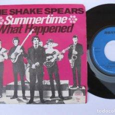 Discos de vinilo: THE SHAKE SPEARS - 45 BELGA - TOP SKA REGGAE - SUMMERTIME / WHAT HAPPENED - ESCUCHALO !. Lote 121775655