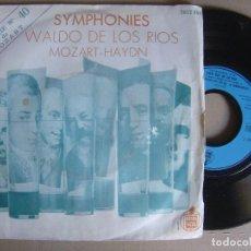 Discos de vinilo: WALDO DE LOS RIOS - SYMPHONIES - SINGLE FRANCES - HISPAVOX. Lote 121785427