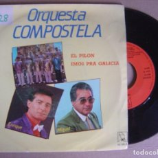 Discos de vinilo: ORQUESTA COMPOSTELANA - EL PILON + IMOS PRA GALICIA - SINGLE1989 - HORUS. Lote 121785827