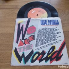 Discos de vinilo: USA FOR AFRICA. WE ARE THE WORLD. Lote 121788975