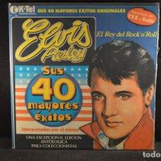 Discos de vinilo: ELVIS PRESLEY - SUS 40 MAYORES EXITOS ORIGINALES - 2 LP. Lote 121791171